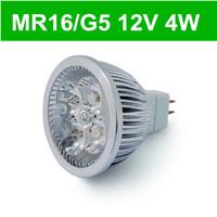 12V 4W MR16 / G5 Led Lamps  5pcs/lot White warn white LED Light Bulb Spotlight Spot Light Free Shipping