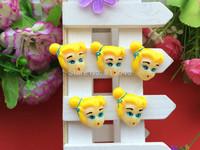 2014 new kawaii princess Snow White resin flatback hair GongPing resin hairbows 50 PCS/lot