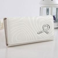 Women's Wallets Purses Pu Leather medium long zipper coin pocket embossed Handbag Female Clutches bag Pretty WZ-117