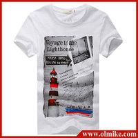 2014 Multiple Color T Shirt Male Printing Short Sleeve Cotton T-shirts Fashion Men's Special Design Slim Men's T shirt