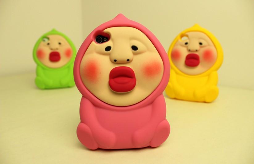Free shipping 2014 New arrival 3D cute cartoon peac