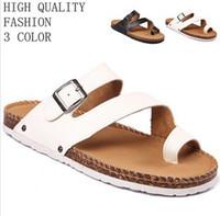 New 2014 Summer Mens Sandals Men Casual Flat  PU Leisure Soft Flip Flops EVA Massage Beach Slipper Shoes For Men Size 39-44