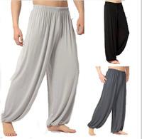 8 Color plus size L-XXXL sweatpants spring autumn man Yoga sport pants bloomers  modal loose trousers dance mens pants  outdoors