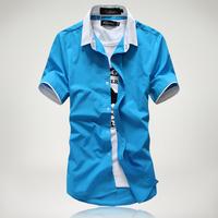 Men's fashion short-sleeved shirt Slim Korean men's fashion simple short-sleeved shirt Men's casual short-sleeved shirt