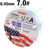 7.0# 100m Long 0.45mm Diameter 30kg Abrasion Resistant Fishing Line Spool Fishing Rope YH-132324