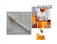 50pcs/lot Portable Jam Stirring Rod 50pcs/lot 14.5cm wooden honey sticks A02