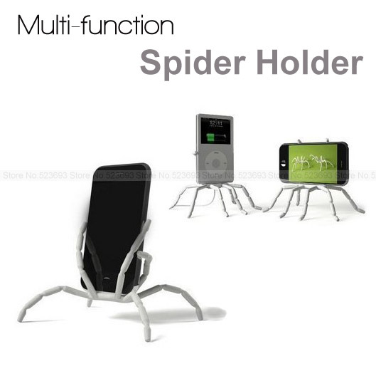 Multi-function Car Phone Holder For iPhone5s Samsung Galaxy S4 Mobile Phone Stents Spider Style Bicyle Stents Hot Sale 0201(China (Mainland))