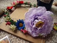 Free shipping handmade unique romantic aesthetic purple daisy garland headband headdress flower wreath viatic marriage