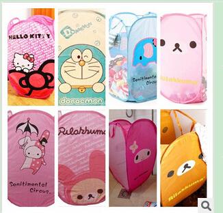 [Wholesale+Retail] Free Shipping+FOLDABLE CUTE LAUNDRY BASKET / LAUNDRY BIN / BAG / HOME STORAGE(China (Mainland))