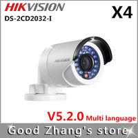 Hikvision DS-2CD2032-I 3MP IP Camera PoE 1080p  gun cameras cctv  4 pieces