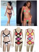 new 2014 bandage swimwear, bandage swimsuit, bandage bikini Region Bandage 2014 Swimsuit Paris Beachwear 2014 kim kardashian