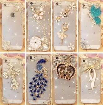 2014 new style rhinestone crystal diamond case cover for Iphone 5c hard back skin protective iphone 5 c case new hot(China (Mainland))