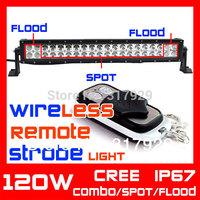 Wireless Remote 21.5inch 120w Cree LED Light Bar Strobe Light 10-30v Offroad LED Work Light External Light Save on 180W 240W