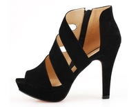 New Women's Fashion Platform Mid-heel Sandals Ankle Strap Buckles Shoes Preppy Wholesale 1Pair