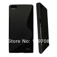 For Huawei Ascend P7 S type case New and High-Quality S line Soft TPU Case For Huawei Ascend P7 1pcs/lot