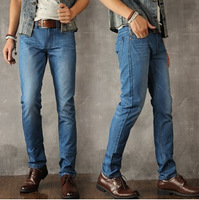 HOT! Free Shipping Men's Modern Style Jeans Mid-Rise Slim Straight Fashion Jeans 1pc/lot