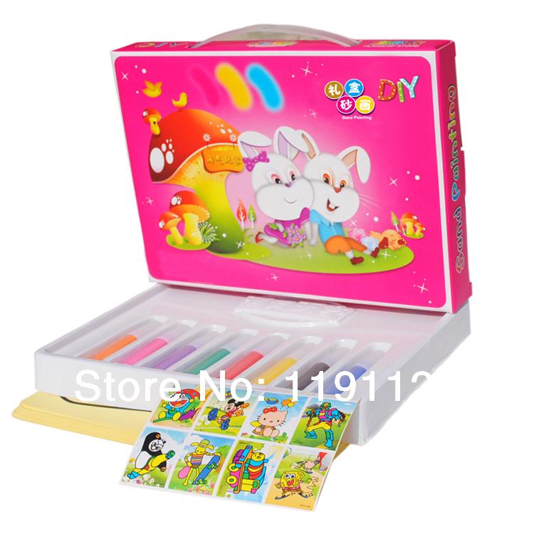 Bouteilles de sable de couleur 8 8 pcs sable. des documents de dessin peinture sur sable cadeaux et jouets éducatifs pour les enfants l'apprentissage