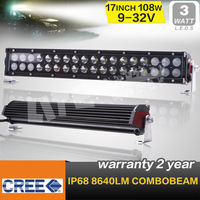 FREE SHIPPING !17 INCH 108W CREE LED LIGHT BAR LED DRIVING LIGHT COMBO FOR OFF ROAD 4x4 ATV UTV USE SECKILL 60W/100W