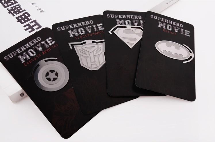 Wholesale Amercian Hero series iron bookmark / Book marks / metal bookmark (30pcs) mixed Book Mark Free shipping(Hong Kong)