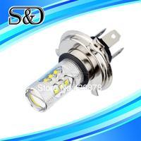 S&D Brand 12pcs H4 80W Cree LED White cars Fog Head lights Bulb auto Lamp Vehicles Signal Tail parking car light source parking