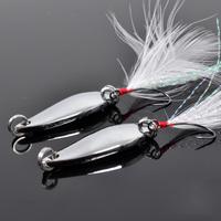 Free shipping, 10pcs 3.5g belt feather belt single hook horses mouth paillette white spoon lure  , lures bait shops.