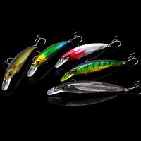 Free shipping, 3pcs 95mm/9g / 1m dive deep bass bait minnow lure bait, bait shop high quality