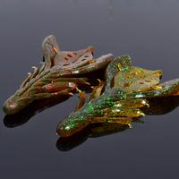 Free shipping, 10pieces, 90mm7g. Leaves shrimp soft bait. Lures bait BLUE SEA, shops.