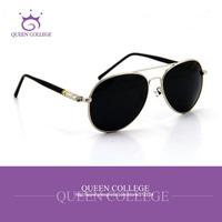 Queen College with case Retail Brand Retro frame aviator sunglasses men glasses sun box polarized lens sunglass 4colors QC0029