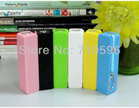 200pcs Perfume 2600mAh Portable Mini USB External Mobile Power Bank Charger For Mobile Phone +Micro USB Cable+Retail Box