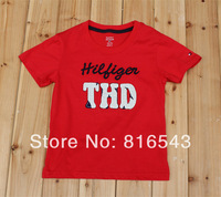 12 Color Kid 2014 new Summer Boys and girls sports clothing Short-sleeved O-Neck letters embroidery T-shirt