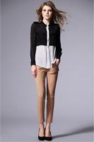Classic Silk Shirt-1407/100% silk/Spring 2014 New/Fashion Women Shirts