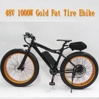 48V 1000W Motor For Fat Tire Electric Bike Bicycle Beach Cruiser Ebike+Hydraulic Disc Brake+LCD Display+48V 12Ah Li-ion Battery