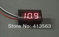 10pcs New Mini Digital Voltmeter 0-99.9V Red LED Vehicles Motor Voltage Panel Meter wholesale Dropshipping