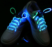 24 pcs Flash Shoelaces of LED Light,Luminous shoestring,LED bootlace Fourth generation for freeshipping