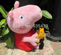 NEW 1pcs/lot Peppa Pig Peppa sister Pig Plush 19 cm George Pig Peppa Pig Family Movie TV Plush Toy High quality