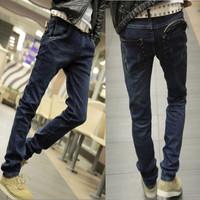 2014 fashionmans jeans summer dark color men jeans slim water wash skinny pants male fashion jeans for men mans jeans