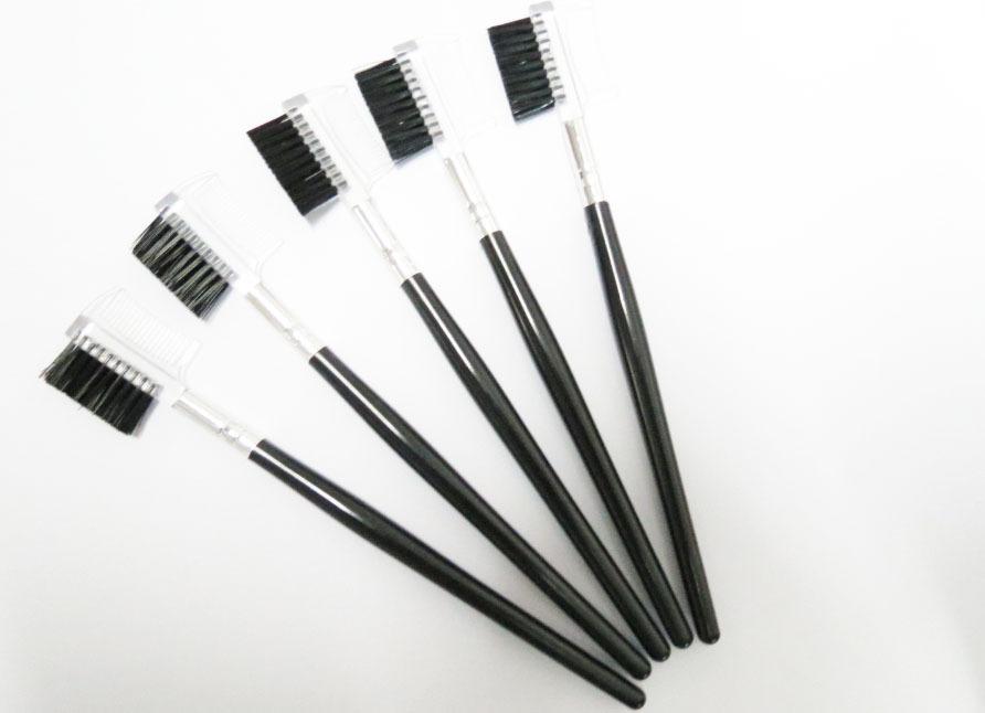 200pcs Double-head Eyelash Comb And Brush Eyebrow brush, makeup tool free shipping(China (Mainland))