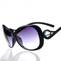 Diamond Sunglasses  New 2014 Big Frame Fashion Sun Glasses Uv400 Vintage Square  Diamond women glasses