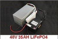 Free shipping! Lithium iron phosphate battery 48V of 35 AH (BMS, fast charger and bag)