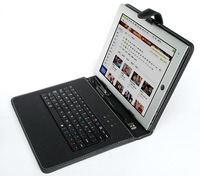 "Free shipping Universal 10.1 inch USB 2.0/Micro USB/Mini USB Multi-Language/English/Russian Keyboard Case For 10.1"" Tablet PC"