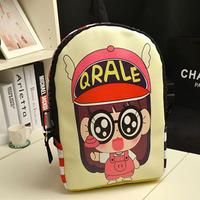 Personalized Graffiti Arale Shoulder Bag Korean Style Bag Fashion Trend Of Men College Wind Book 1B010