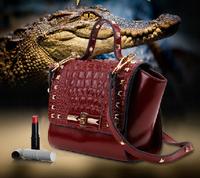 New design high quality  hot-selling rivet dumplings bag mini women's genuine leather handbag  all-match free shipping