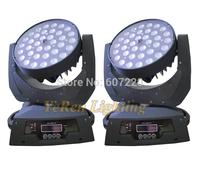 2XLOT Zoom  LED Moving Head Light  Wash Light DJ effect light with 36pcs 10W RGBW or RGBA quad-color led pro stage lighting