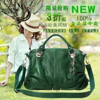 genuine leather bag for women fashion cowhide women's handbag one shoulder handbag cross-body big