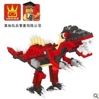 Dinosaur Red Tyrannosaurus Rex Building Block Sets 191pcs Educational Construction Bricks Toys For Children