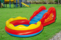 Free Shipping High quality inflatable slide pool set swimming pool child pool game within electric pump