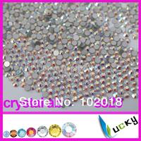 Free Shipping ss20 1440pcs/bag Crystal AB Color Flatback non hotfix rhinestone Nail art Strass beads For DIY
