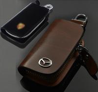 leather key bag key case key wallet for mazda 3 mazda 5 mazda 6  MAZDA cx-5 cx-7 car key cover genuine leather