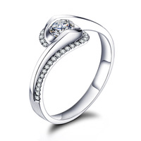 TR21 /  Gorgeous Ring White Gold Plated With AAA Zircon ( For Engagement , Wedding , Anniversary , Gift ) Free Shipping