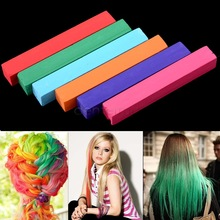 hair 6Colors hair color  Pastel Stick Vermicelli hair chalk  Brush Hair Chalk #0010 SV000202(China (Mainland))